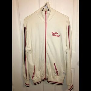 Franklin Marshall Mens Zip up Jacket Red White XL